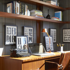 Eclectic Home Office by Andrew Suvalsky Designs