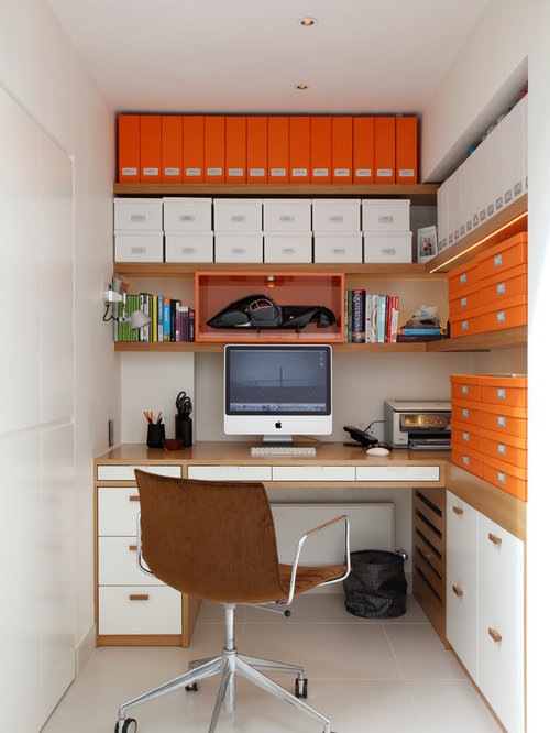 Narrow office space ideas pictures remodel and decor for Office design houzz