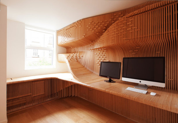 Eclectic Home Office by Synthesis Design + Architecture