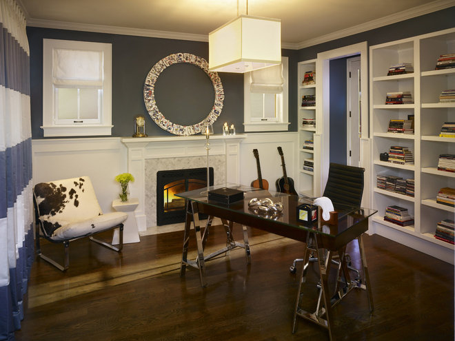 Contemporary Home Office by Andrea Schumacher Interiors