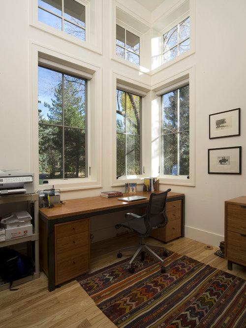 Farmhouse denver home office design ideas remodels photos for Office design denver
