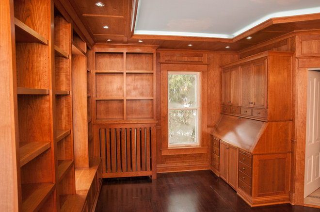 Craftsman home office by walnut creek custom woodworking for Craftsman style office