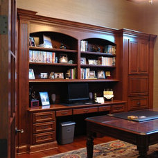 Traditional Home Office by Custom Touch Cabinets
