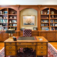 traditional home office by Hostetler Custom Cabinetry