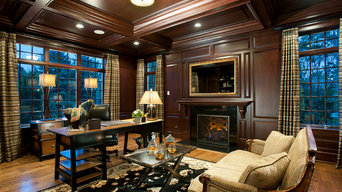 Cherry Wood Study for Philadelphia Magazine's Design Home, Blue Bell PA