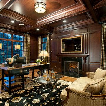 Cherry Wood Study for Philadelphia Magazine's Design Home, Blue Bell PA