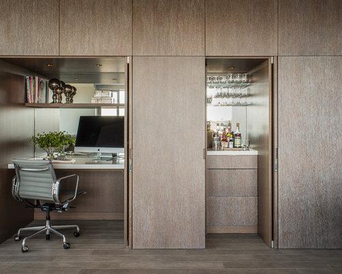 office wet bar. small contemporary builtin desk home office idea in san francisco wet bar t