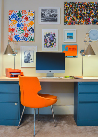 Contemporary Home Office by InDesign / Lori Ludwick