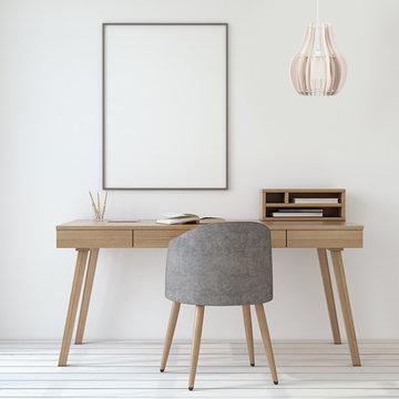 Chianti Medium Wood Pendant Lamp, Off-White