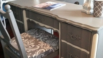 Chic Home office Dixie Vintage French Provincial Desk/Vanity