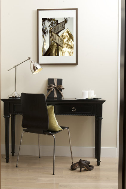 Contemporary Home Office by Marie Burgos Design