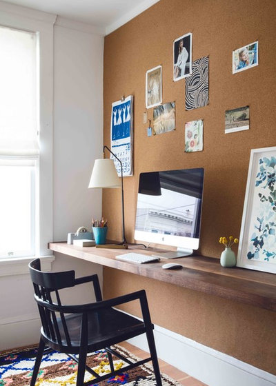 Transitional Home Office by Katie Martinez Design