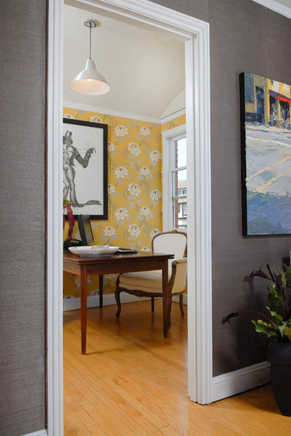 Contemporary Home Office by Ashley Roi Jenkins Design, LLC