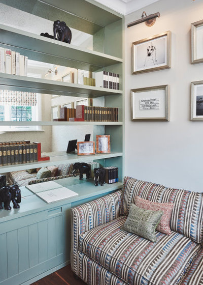 Modern Home Office & Library by Claudia Dorsch Interior Design Ltd