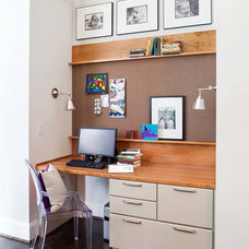 Contemporary Home Office by TerraCotta Properties
