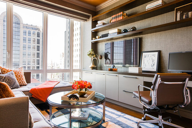 Contemporary Home Office by Elms Interior Design