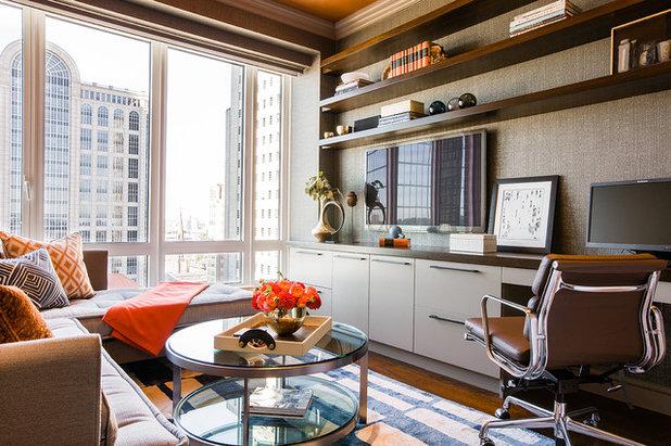 Современный Кабинет by Elms Interior Design