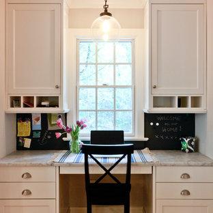 Elegant Built In Desk Home Office Photo In Newark