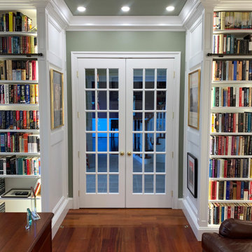 Classic French Doors at Library Entrance