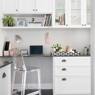 Inspiration for a transitional home office in Perth.