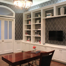 Transitional Home Office by NR Interiors