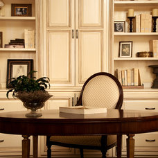Traditional Home Office by L&M Interior Design