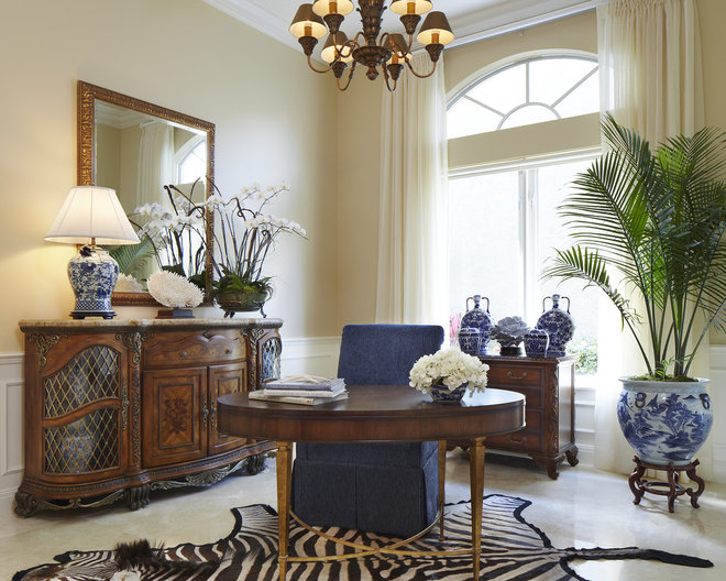 Traditional Home Office by JMA INTERIOR DECORATION