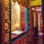 Backlit Gemstone Art Nouveau Wall Art With A Gemstone