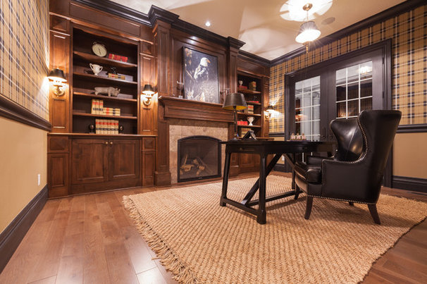 Traditional Home Office by Jamie Sixberry at Paulson's
