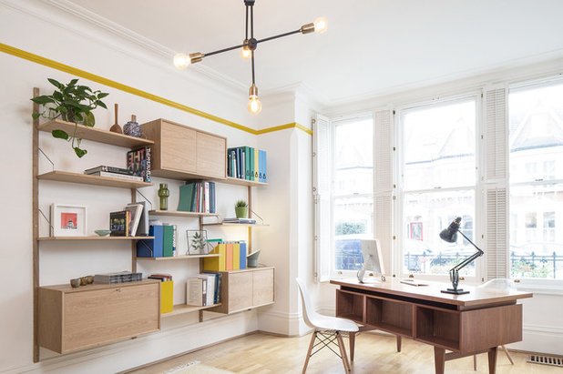 Scandinavian Home Office & Library by YAM Studios