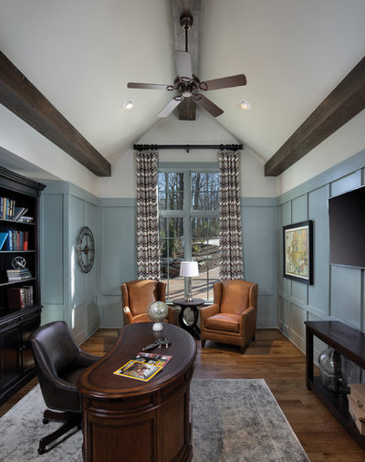 Traditional Home Office & Library by Arthur Rutenberg Homes by American Eagle Builders
