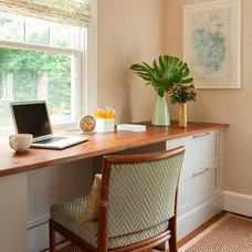 Beach Style Home Office by LeBlanc Design