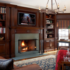 Traditional Home Office by Michael Mariotti Interior Design