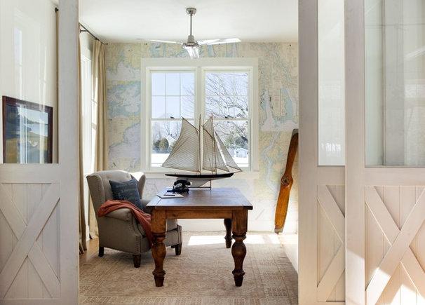 Beach Style Home Office by lisa k. tharp - k. tharp design