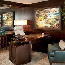 Transitional Home Office by Robeson Design
