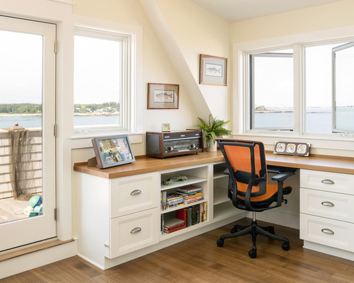 Beach Style Home Office Design Ideas Remodels Photos
