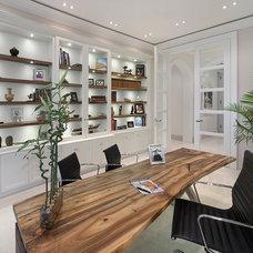 Mediterranean Home Office by Michelangelo Custom Homes, LLC