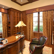 Traditional Home Office by Katharine Jessica Interior Design, LLC