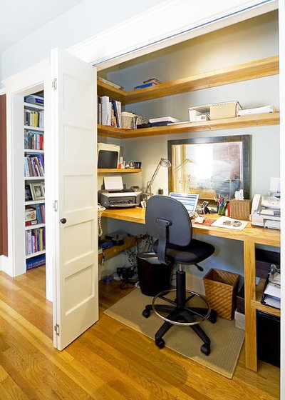 American Traditional Home Office by Rossington Architecture
