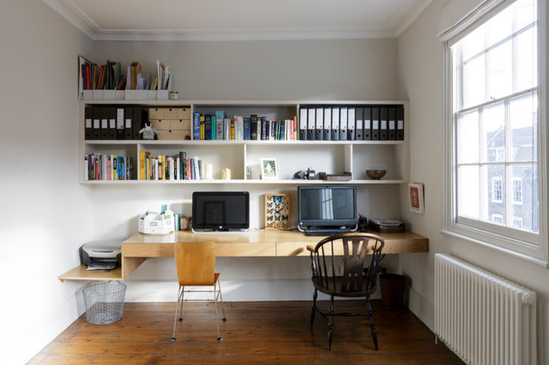 Contemporary Home Office & Library by Appleton Weiner Architects