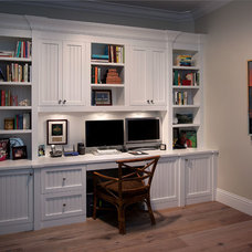 Traditional Home Office by Grand Woodworking