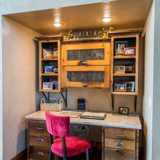 Rustic Home Office by Cabinet Concepts by Design