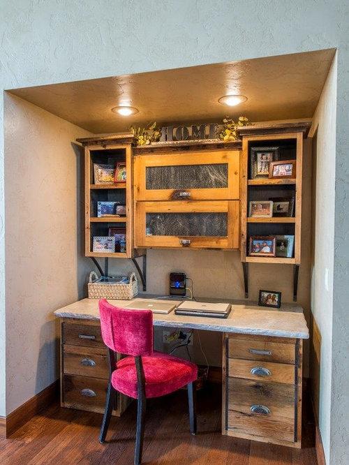 Rustikale arbeitszimmer ideen design bilder houzz for Arbeitszimmer wandfarbe
