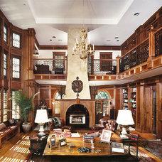 Traditional Home Office by Rodney Kazenske