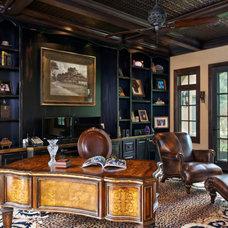 Mediterranean Home Office by Gayle Berkey Architects