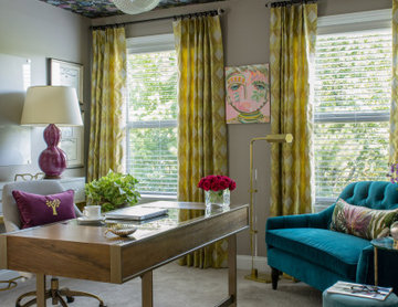 Colorful Sophisticated Home Office