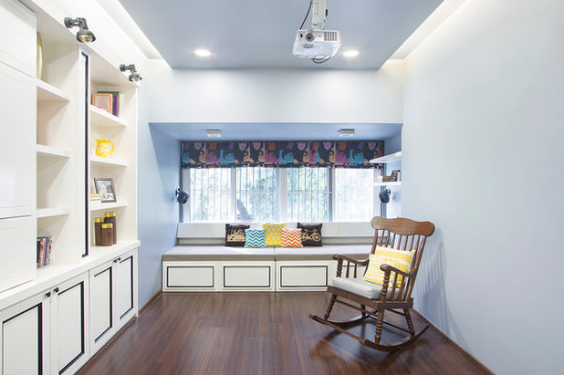Transitional Home Office by Purple Backyard
