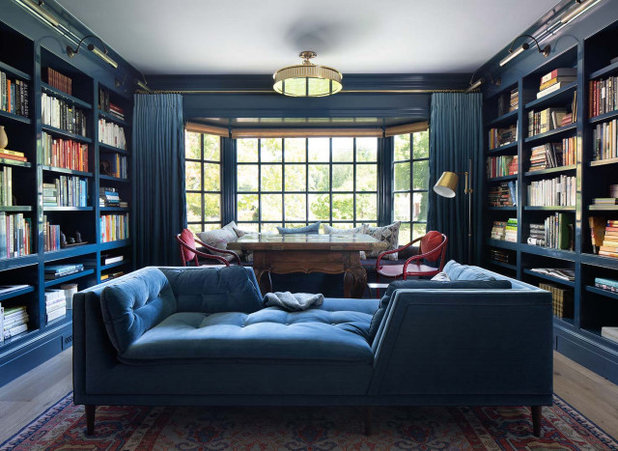 Traditional Home Office by Ann Lowengart Interiors