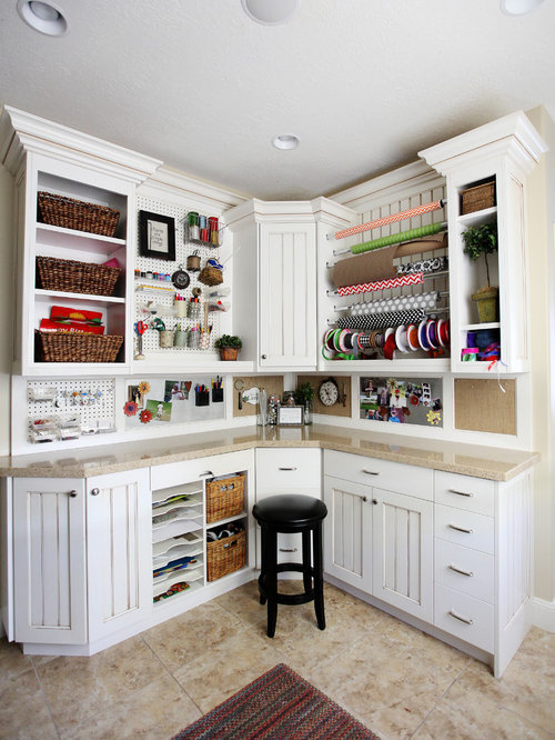 Craft room design ideas renovations photos for Office craft room design ideas