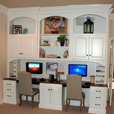 Traditional Home Office by TL King Cabinetmakers